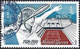France 1978 - Mi 2102 - YT 2012 ( Tennis : Roland Garros ) - Used Stamps