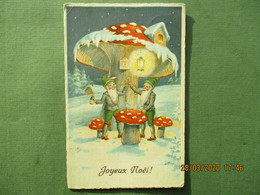 Kerstmis Noël Padestoel Champigonkabouter Gnome Champage - Noël