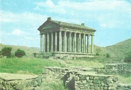 ARMENIE PERIODE SOVIETIQUE - TEMPLE GREC DE GARNI, CARTE ENTIER POSTAL TYPE ARMOIRIE 1976 , TRYPTIQUE GAGARINE ET FUSEE - Arménie