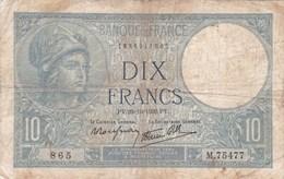 France - Billet De 10 Francs Type Minerve - 26 Octobre 1939 - 1871-1952 Frühe Francs Des 20. Jh.