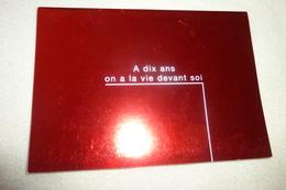 BELLE CARTE DE VOEUX 1997 DEPLIANTE ..DE TF1 ...BELLE PETITE FILLE - Publicité