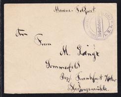 """Steg-K2 Kaiserliches Kommando S.M.S. """"Freya"""" Briefstempel Auf Feldpostbrief - Germany"""