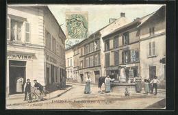 CPA Taverny, Fontaine Et Rue De L`Eglise, Vue De Fontaine - Taverny