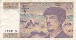 France - Billet De 20 Francs Type Debussy - 1981 - 1962-1997 ''Francs''