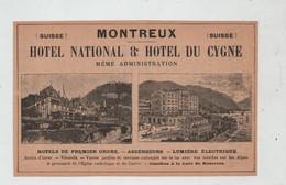 Montreux Hôtel National Cygne Monte Generoso Kulm Pasta 1902 - Genealogy