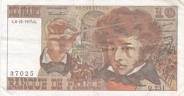 France - Billet De 10 Francs Type Berlioz - 6 Novembre 1975 G - 1962-1997 ''Francs''