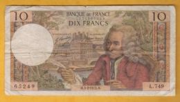 France - Billet De 10 Francs Type Voltaire - 3 Février 1972 M - 1962-1997 ''Francs''