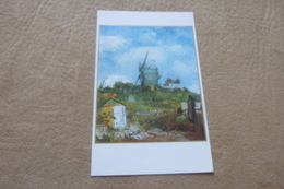 BELLE CARTE DOUBLE ....LE MOULIN DE LA GALETTE ..MONTMARTRE ... - Van Gogh, Vincent