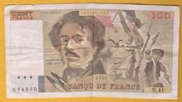 France - Billet De 100 Francs Type Delacroix - 1980 - 1962-1997 ''Francs''