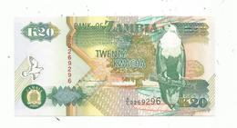 BILLET , ZAMBIE ,  ZAMBIA , Twenty , 20 , Twenty Kwacha ,  2 Scans - Zambie