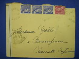 France 1940 BEZONS BOURCEFRANC Censure UP12 Enveloppe Cover Deutsches Reich Controle Postal Militaire - Marcophilie (Lettres)
