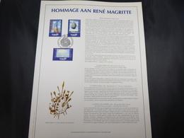 "BELG.1998 2745/2747 FDC Filatelic Gold Card NL. : "" HOMMAGE AAN RENE MAGRITTE "" - 1991-00"