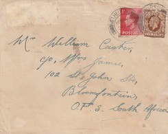 Great Britain Cover South Africa - 1936 - King George V KGV Edward VIII KEVIII THURSO Scotland - 1902-1951 (Könige)