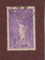 309 De 1936 - Oblitéré - Au Profit Des Réfugiés Politiques . Statue De La Liberté - 75c. S/ 50c. Violet - 2 Scannes - France
