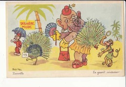 Carte Illustrateur Rob  Vel - Zooville - Le Grand Couturier :  Achat Immédiat - ( Cd034 ) - Autres Illustrateurs