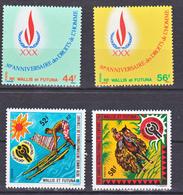 Wallis Et Futuna  224/225 GT, 232/233 Droits De L'homme Et Année De L'enfant Neuf ** MNH Sin Charmela - Neufs