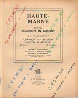 ANNUAIRE - 52 - Département Haute Marne - Année 1949 - édition Didot-Bottin - 74 Pages - Annuaires Téléphoniques