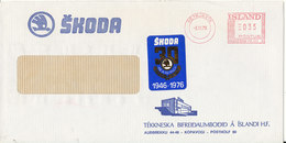Iceland Cover With Meter Cancel Reykjavik 3-11-1976 (SKODA) (the Flap On The Backside Of The Cover Is Missing) - 1944-... Repubblica