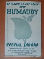 Buvard  HUMAUBY Spécial Jardin  AUBY - Buvards, Protège-cahiers Illustrés