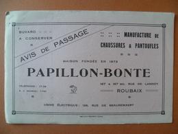 Buvard  Manufacture De Chaussures  PAPILLON-BONTE   ROUBAIX - Buvards, Protège-cahiers Illustrés
