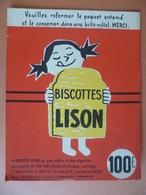 Buvard  BISCOTTES LISON LOMME LEZ LILLE - Buvards, Protège-cahiers Illustrés