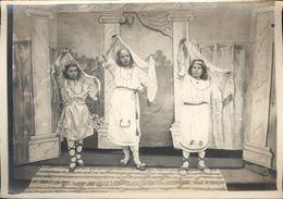 Snapshot Institution Ste Bertulphe Fruges Théatre Danse Des écharpes Vers 1900 - Personnes Anonymes