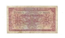 5 Fr - 01.02.43 - [ 3] German Occupation Of Belgium