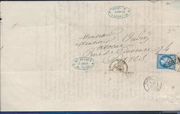 13 Lettre Et 5 Enveloppe  Avec Timbre Napoléon   Voir Scann - Marcophilie (Lettres)