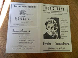 JETTE: CINEMA CINE RITZ 76 R. HENRI  WERRIESTRAAT -PUBLICITE DE FILM  PREMIER COMMANDEMENT - Publicité Cinématographique