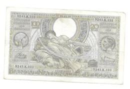 100 Fr - 23.11.38 - 100 Francs & 100 Francs-20 Belgas