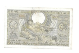 100 Fr - 10.11.38 - 100 Francs & 100 Francs-20 Belgas