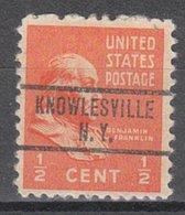 USA Precancel Vorausentwertung Preo, Locals New York, Knowlesville 734 - Vereinigte Staaten