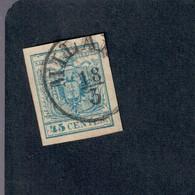 LOMBARDO VENETO STEMMA AUSTRO UNGARICO 45 CENT SASSONE 12 FIRMATO OTTIMA QUALITA' COD FRA.002 - Lombardy-Venetia
