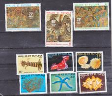 Wallis Et Futuna  245/247 , 248/253,  Tableaux Et Flore Marine Neuf Avec Trace De Charnière* MH Con Charmela Cote ** 21. - Neufs