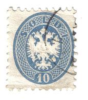 LOMBARDO VENETO 1863 Stemma Austro Ungarico 10 SOLDI USATO Un Pò Rovinato COD FRA.021 - Lombardy-Venetia