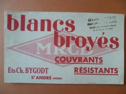 Buvard  Blancs Broyés Ets: CH-BYGODT SAINT-ANDRE  Cachet FLINES-LEZ-RACHES - Buvards, Protège-cahiers Illustrés