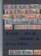 ANNEE 1938....MANQUE 6 TIMBRES..........COTE DES NEUFS LUXES ET GOMME ORIGINALE 330 EUROS - France