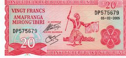 BURUNDI 20 FRANCS 2005 P-27d.4 UNC - Burundi