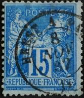 -Sage N°90 Type Ll.(AMBULANT) O .BREST A PARIS.8 NOV 1882 - 1876-1898 Sage (Type II)