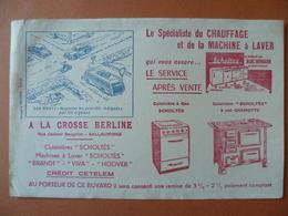 Buvard  Le Spécialiste Du Chauffage Et De La Machine A Laver LA GROSSE BERLINE  SALLAUMINES - Buvards, Protège-cahiers Illustrés