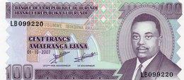 BURUNDI 100 FRANCS 2007 P-37f UNC  SERIE SPECIAL  LB 099220 - Burundi