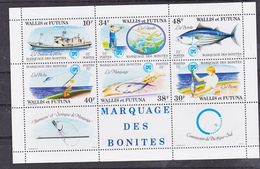 Wallis Et Futuna BF  2 Bonite Neuf Trace De Charnière Marge * MH Con Charnela - Blocs-feuillets