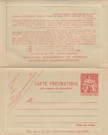 CARTE PNEUMATIQUE 100F CHAPLAIN NEUVE - Entiers Postaux