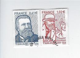 Personnalité Jean Jaurès P 4869-4870 Oblitérée 2014 - Oblitérés