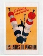 *  Reprod Affiche Pour Les Laines Pingouin 1945 - Publicité