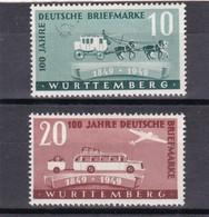 Französische Zone, Württemberg Nr. 49/50** (T 15538) - Zona Francesa