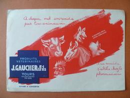 Buvard  PRODUITS VETERINAIRES  J-GAUCHER A TOURS - Buvards, Protège-cahiers Illustrés