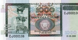 BURUNDI 1000 FRANCS 2009  P-46  UNC  Serie CJ 000106 - Burundi