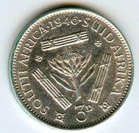 Afrique Du Sud South Africa 3 Pence 1946 Argent KM 26 - Afrique Du Sud