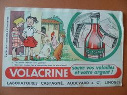 Buvard  VOLACRINE  Laboratoires Castagné  LIMOGES - Buvards, Protège-cahiers Illustrés